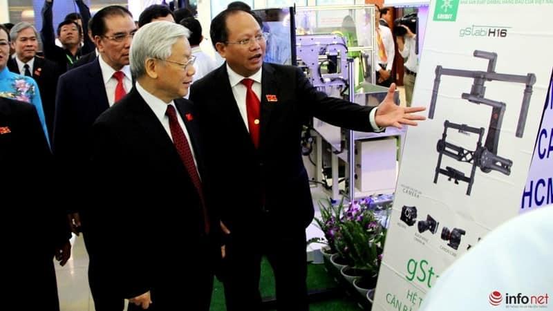 Tổng Bí Thư tham quan triển lãm Công Nghệ Cao tại TP Hồ Chí Minh 7