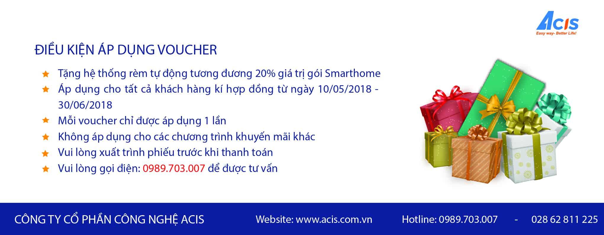 ACIS khuyến mãi khủng giảm đến 20% tổng giá trị gói Smarthome 6