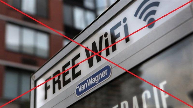 Không truy cập wifi miễn phí công cộng từ xa quá nhiều