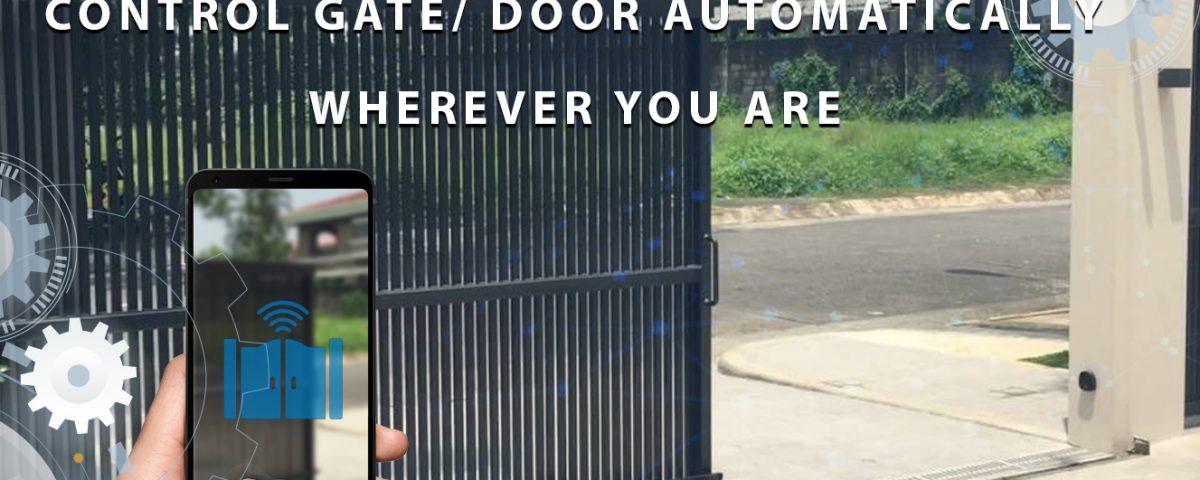 Using smart devices to control doors, gates, curtains in your house ! 3