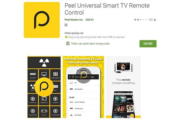 Peel Univeral Smart TV Remote Control